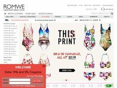 Romwe Coupons and shopping deals http://couponsheap.com/store/romwe/  Romwe sells shoes, bags, swimwear, beauty. Also clothing: tops, bottoms, dresses, outwear and more. All in amazing prices.  For more coupons visit: http://couponsheap.com
