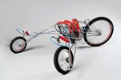 love this trike - powered by two handheld screwdrivers - goes 30km/h! #genius #vehicle #industrialdesign