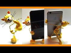 Cat Phone Holder (Polymer clay/Fimo Tutorial) - YouTube