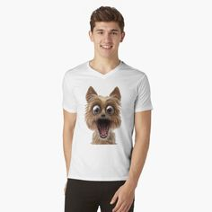 surprised dog face Surprised Dog, Shark, Face, Dogs, Mens Tops, Pet Dogs, The Face, Doggies, Sharks