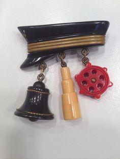Bakelite sailor pin