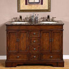 Silkroad Exclusive Baltic Brown Granite Top Double Sink Bathroom Vanity with Cabinet 48-Inch Review https://modernbathroomvanitiesreviews.info/silkroad-exclusive-baltic-brown-granite-top-double-sink-bathroom-vanity-with-cabinet-48-inch-review/