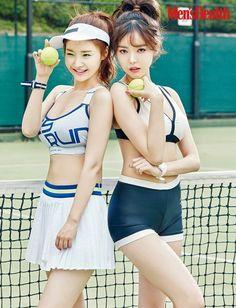 Dal Shabet become divas on the tennis court for 'Men's Health' | allkpop.com