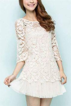 Awesome Lace shirt dress 2018