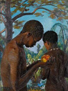 George Mnyalaza Milwa Pemba - Artist, Fine Art Prices, Auction Records for George Mnyalaza Milwa Pemba Famous Black Artists, South African Artists, Africa Art, Adam And Eve, African American Art, Art Auction, Portrait Art, Painting Inspiration, Fine Art