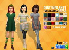 Child Female Shift Dress at Onyx Sims via Sims 4 Updates