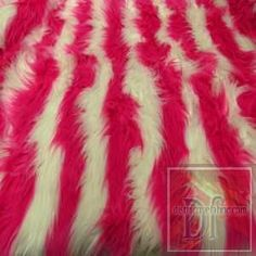 White and Pink Striped Fur www.distinctivefabric.com