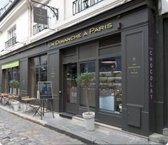 Pâtisserie Un Dimanche à Paris | 4-6-8, Cour du Commerce Saint-André, 75006 Paris--you will never ever forget this dinner!  Every course incorporates chocolate!