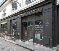 Un Dimanche à Paris - a patisserie I would love to visit. They have shelves dedicated solely to caramel....Whole shelves!!!