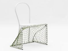 Italian designer Emanuele Magini has taken it upon himself to adapt soccer to fit the sedentary lifestyle. His creation is a chair modified to be wider-leg