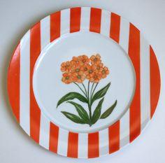 Aparelho Flores - prato laranja
