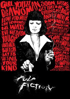 Pulp Fiction fan art by Peter Strain, an AOI Award winning Illustrator working and living in Belfast.