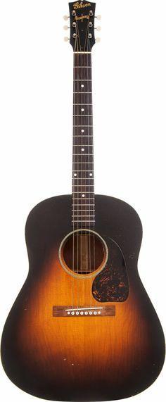 1944 Gibson J-45 Sunburst Acoustic Guitar.