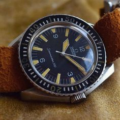 Vintage or Modern: What's Best for You? Here is a superb Omega Seamaster 300 165.024 with lovely tritium dial from @visionvintagewatches | #omega #swisswatches by swisswatches