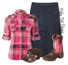 """""""Modest Cowgirl Style ~Hannah"""" by isongirls ❤ liked on Polyvore featuring Soul Cal and Durango"""