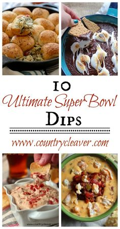 10 Ultimate SuperBowl Dips - www.countrycleaver.com