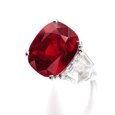 Named after a poem written by the Sufi poet Rumi, The Sunrise Ruby, an extraordinary cushion-shaped 25.59ct Burmese ruby, was mounted as a ring by Cartier. With a pre-sale estimate of US$12-18 million, the 25.59ct cushion-cut ruby should easily surpass the US$7,338,462 achieved by the current record holder.