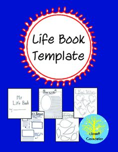 This printable book helps counselors create life books for children who have had…