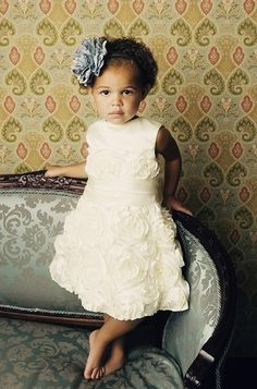 Champagne Rose Dress with Sash Flower Girl/Special by csgbridal, $110.00