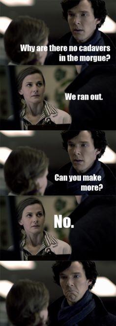 Why you make Sherlock so sad?