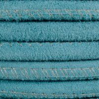Round Stitched Suede, Color - 822 Turquoise. #leather