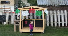 a playhouse made from pallets (cost: $9.75). photo tutorial