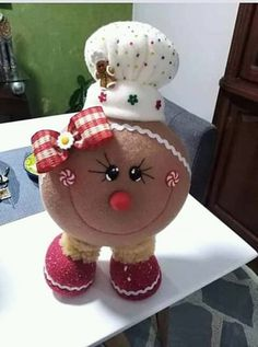 Christmas Hearts, Felt Christmas Ornaments, Christmas Candy, Vintage Christmas, Christmas Gifts, Clay Ornaments, Christmas Decorations, Christmas Home, Gingerbread Crafts