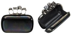 Alexander McQueen Iridescent Swarovski Crystal Leather Knuckle Black/Iridescent Clutch. Get the trendiest Clutch of the season! The Alexander McQueen Iridescent Swarovski Crystal Leather Knuckle Black/Iridescent Clutch is a top 10 member favorite on Tradesy. Save on yours before they are sold out!