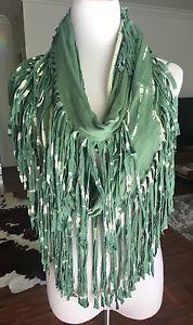 New Auth Chan Luu Tie Dye Infinity Scarf Forest Green   eBay