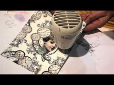 La Blanche - Collage Technique video tutorial - CHA Summer 2012