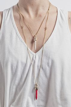 Droplet Necklace by Cities In Dust