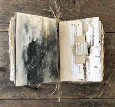 Excavation digging through the layers bk 2 pg 2 Handmade Journals, Handmade Books, Handmade Crafts, Handmade Rugs, Artist Journal, Art Journal Pages, Journal Covers, Bullet Journal Art, Junk Journal