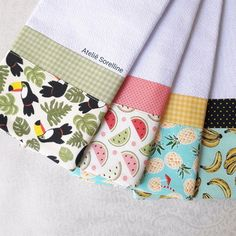 Hand Towels, Tea Towels, Towel Embroidery, Kitchen Towels, Burp Cloths, Apron, Sewing Projects, Kids Fashion, Applique