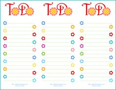 Isn't this cute? Free printable, and I think it will make me want to do my to do list more regularly...