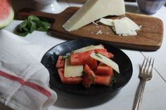 Watermelon & Pecorino Romano Salad {Pedantic Foodie}