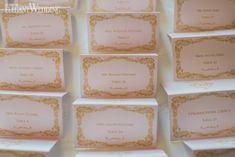 Gold Crest Wedding Name Cards, Pink Name Card Ideas, Wedding Name Cards   ElegantWedding.ca #namecards #weddings Glamorous Wedding Theme, Elegant Wedding, Invites, Wedding Invitations, Pink Names, Wedding Name Cards, Name Place Cards, Tiered Cakes, White Roses