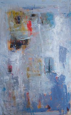 LENA GUAVO Untitled (abstract 0013) original, oil on canvas 29″ x 49″, unframed