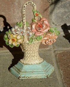 flower basket doorstop...I think I need one!