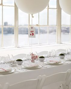 A Modern Red-and-White Wedding in a Loft in New York City - Real Weddings - Martha Stewart Weddings