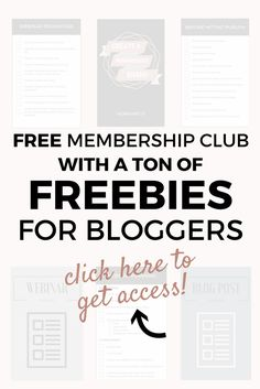Get access to a ton of guides, worksheets, checklists for bloggers and online entrepreneurs