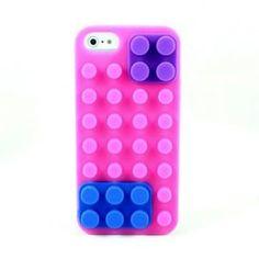 Силиконовый чехол Lego Светло розовый для IPhone 5&5s