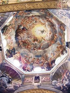 Assumption of the Virgin - Correggio.  c.1526-30.  Ceiling fresco.  Parma Cathedral, Parma, Italy.