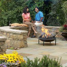 Build a Flagstone and Stone Block Patio - Summary | The Family Handyman