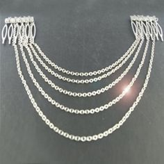 New Arrival and Stylish Fringe Chain Embellished Hair Comb For Women, SILVER in Hair Accessories | DressLily.com