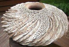 "Anne Goldman Ceramic Art – ""Canyon Wall Vase"""