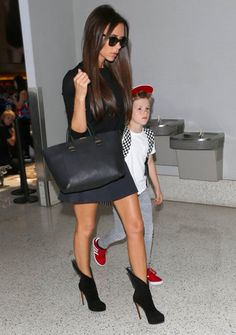 5/31/14- Victoria Beckham with her son Cruz at LAX Airport.  She actually looks 18  http://greek-kouture.tumblr.com/post/86329017013/my-queen-kylie-3