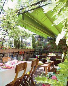 Toldo on pinterest pallet bed swings pallet swings and - Decoracion de terrazas y jardines ...