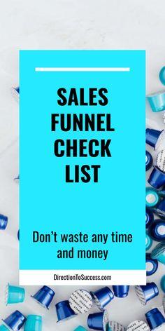 Do you have a Sales Funnel Checklist? Inbound Marketing, Affiliate Marketing, Internet Marketing, Digital Marketing, Blog Post Template, Start Running, Sales Strategy, Make Money Online, Online Business