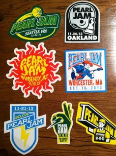 Pearl Jam 2013 Tour Stickers
