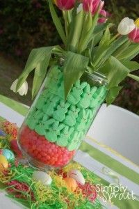 great idea for Easter, easy and fun centerpiece
